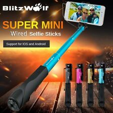 BlitzWolf Wired Extendable Handheld Remote Selfie Stick Monopod Holder For Phone
