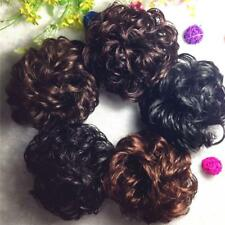 12cm Women Lady Bun Hairpiece Hair Extension Scrunchie Synthetic Fiber Pony Tail