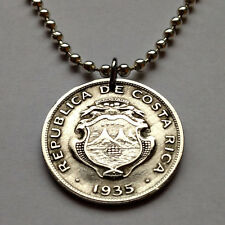 Costa Rica 25 cents coin pendant Costarricense necklace Central America n001040