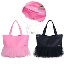 Kids Girls Tutu Tote Bag Ballet Dance Lace Ruffled Handbag Shoulder Bags Pouch