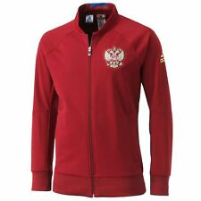adidas RUSSIA ANTHEM JACKET BURGUNDY NATIONAL FOOTBALL TEAM EUROPEAN SOCCER RARE
