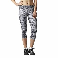 adidas WOMEN'S SUPERNOVA THREE QUARTER TIGHTS CLIMALITE GYM WEAR FITNESS RUNNING