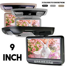 """9"""" Flip Down Car Roof Screen Monitor with Built-In DVD USB SD Player & Games"""