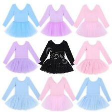 Princess Girl Ballet Tutu Dress Kid Leotard Gymnastics Shiny Tulle Skirt Costume