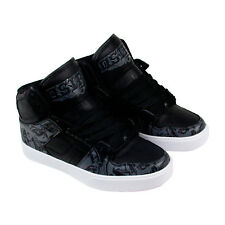 Osiris Nyc 83 Vulc Mens Black Leather High Top Lace Up Sneakers Shoes