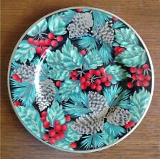 """FITZ AND FLOYD HOLIDAY PINE BONE CHINA SALAD PLATE 8-3/4"""" BEAUTIFUL EXCELLENT"""