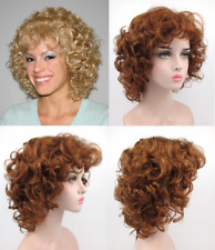 50S 60S WOMENS SHORT BIG BOUNCY CURLS CURLY HAIR WIG BANGS SABRINA GOLDEN GIRLS