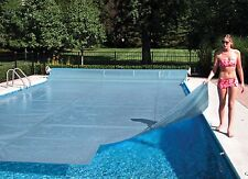 ALL SIZES!! Clear Swimming Pool Solar Heater Blanket Cover w/ Grommets-12 Mil