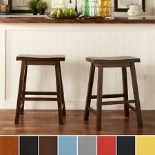 Salvador Saddle Back 24-inch Counter Height Backless Stool (Set of 2) by iNSPIRE
