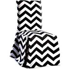 Chevron Cotton Dining Chair Slipcover Pair