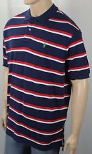 Polo Ralph Lauren Navy Red White Striped Classic Fit Mesh Shirt Green Pony NWT