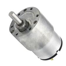 Electric Gearbox Replacement DC Gear Motor 37mm Gear Motor 12V 7RPM-960RPM