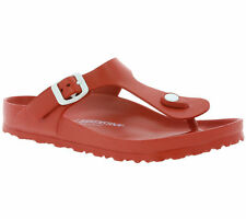 Birkenstock Gizeh EVA Sandals Ladies Toe Post Bath Slippers Red 0128231