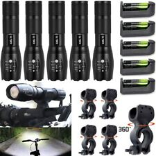 Ultrafire 20000LM T6 LED Flashlight 5 Modes Torch Battery Charger Bike 360° Clip