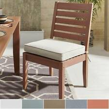 Yasawa Modern Wood Outdoor Cushioned Dining Side Chair (Set of 2) iNSPIRE Q