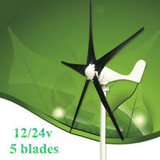 DC 12/24V 200W 5 Blades Wind Turbine Generator with Windmill Charge Controller