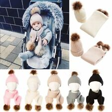 Baby Toddler Girls Boys Infant Warm Winter Knit Beanie Hat Crochet Cap Scarf Set
