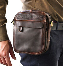 Men Oil wax Leather Belt Fanny Pack Waist Bag Travel Messenger Shoulder Pack New
