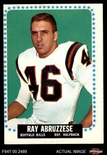1964 Topps #22 Ray Abruzzese Bills VG