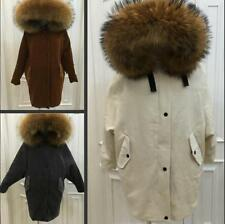 Hot  Women's 100% Real Fur Down jacket Lady Parka Coat Winter Jacket 4 Colors