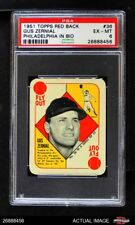 1951 Topps Red Back #36 Gus Zernial  Philadelphia in Bio Athletics PSA 6 - EX/MT