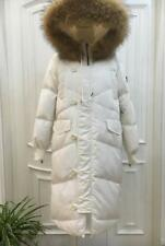 Women's 100% Real Fur Down jacket Lady Parka Coat Winter Black/ White  Jacket