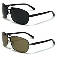 New Mens Womens Aviator Polarized Designer Vintage UV400 Black Sunglasses 3907
