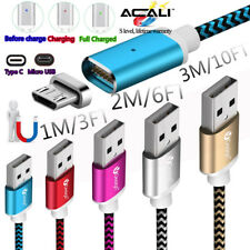 ACALI 1M 2M 3M Magnetic Charger Type C USB-C Micro USB Fast Data Transfer Cable