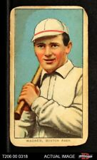 1909 T206 Heinie Wagner Bat On Right Shoulder Red Sox GOOD