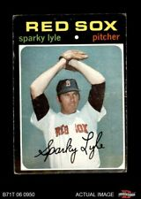 1971 Topps #649 Sparky Lyle Red Sox VG/EX
