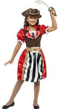 Girls  Pirate Captain Fancy Dress Costume - All sizes