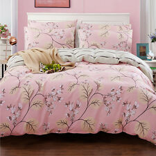 Floral Duvet Doona Quilt Cover Set Single Queen King Size Bed Covers Bedding Set