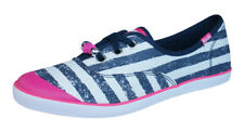 Keds Champion K Girls Lace Up Trainers / Plimsolls - Navy Blue