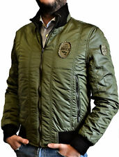 Giacca Giubbotto Uomo Verde/Marrone Reversibile Datch Jacket Men Double Face Bro