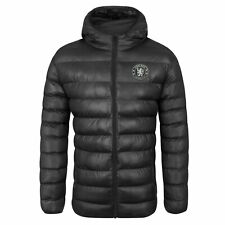 Chelsea FC Official Soccer Gift Mens Quilted Hooded Winter Jacket