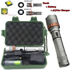 Ultrafire 20000LM Rechargeable 5Mode T6 LED Flashlight Torch 18650 Charger Case