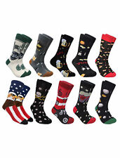 Men's Socks Fun Novelty Sports Food Beer (One-Pair) Size 10-13
