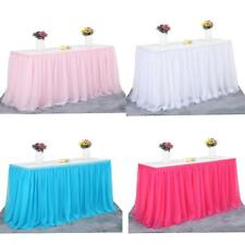 Tulle Tutu Table Skirt Tableware Wedding Party Xmas Baby Shower Decoration 14ft