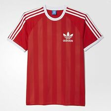 adidas ORIGINALS CALIFORNIA T SHIRT FOOTBALL RETRO SUMMER SLIM FIT RED TREFOIL