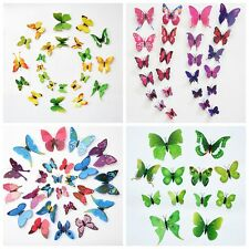 3D Butterfly Sticker Art Design Decal Wall Stickers Home Decor Room Decorations.