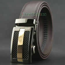 Fashion Men Dress Luxury Genuine Leather Belts Waist Strap Belt Auto Lock Buckle