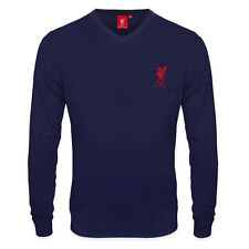 Liverpool FC Official Soccer Gift Mens Crest Knitted V-Neck Jumper