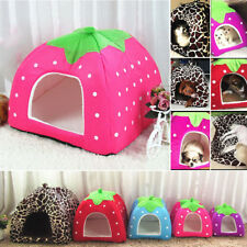 Soft Strawberry Pet Dog Cat Bed House Kennel Doggy Comfort Cushion Basket 5Color