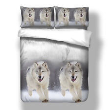 Wolf Duvet Quilt Doona Covers Set Single King Queen Size Animal Bed Pillowcases