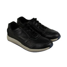 Clarks Sirtis Mix Mens Black Leather Casual Dress Lace Up Oxfords Shoes