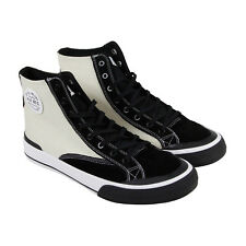 HUF Classic Hi Mens Black Textile & Suede High Top Lace Up Sneakers Shoes