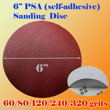 "6"" PSA Self Adhesive 60/80/120/180/320g Grit Sand Disc Stick On Sanding Paper AO"