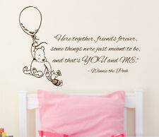 Winnie the Pooh Wall Decal Quote Vinyl Sticker Nursery Decal Bedroom Decor KG834