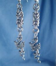 Dragons Khaleesi Game of Thrones Earrings Stainless Steel Byzantine Chain Mail