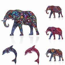 Beauty Fashion Printing Pattern Elephant Pin Brooch Women Jewelry Party Gift Hot